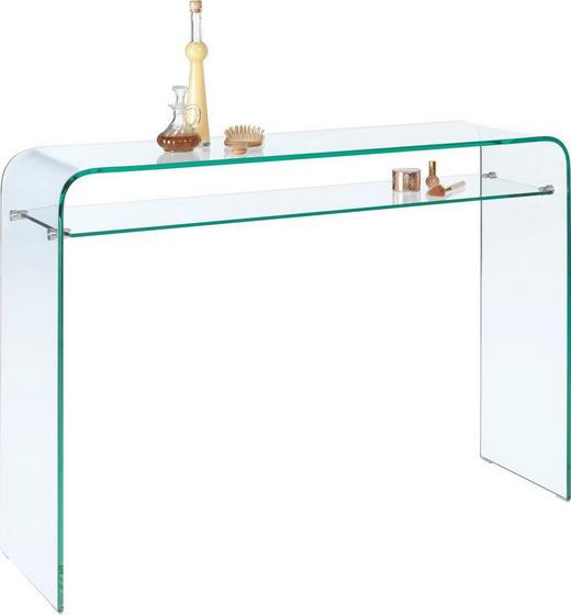 ODKLÁDACÍ STOLEK - průhledná, Design, sklo (120/85/35cm)