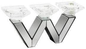 LJUSSTAKE - klar/silver, Design, glas/träbaserade material (37/10,2/17cm) - Ambia Home