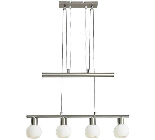 LED ZÁVĚSNÉ SVÍTIDLO - bílá, Konvenční, kov/sklo (60cm) - Novel