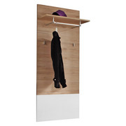 GARDEROBENPANEEL 65/154/28 cm - Eichefarben/Weiß, MODERN, Holzwerkstoff (65/154/28cm) - Voleo