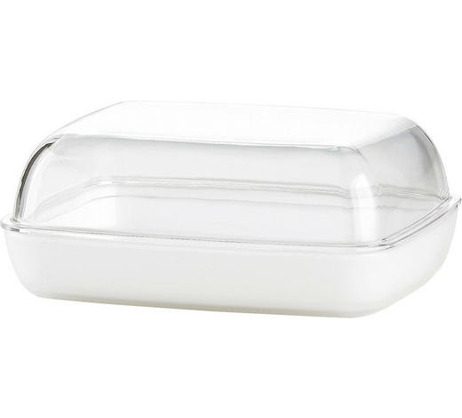 BUTTERDOSE Kunststoff  - Weiß, KONVENTIONELL, Kunststoff (13,8/10,6/5,4cm) - Emsa