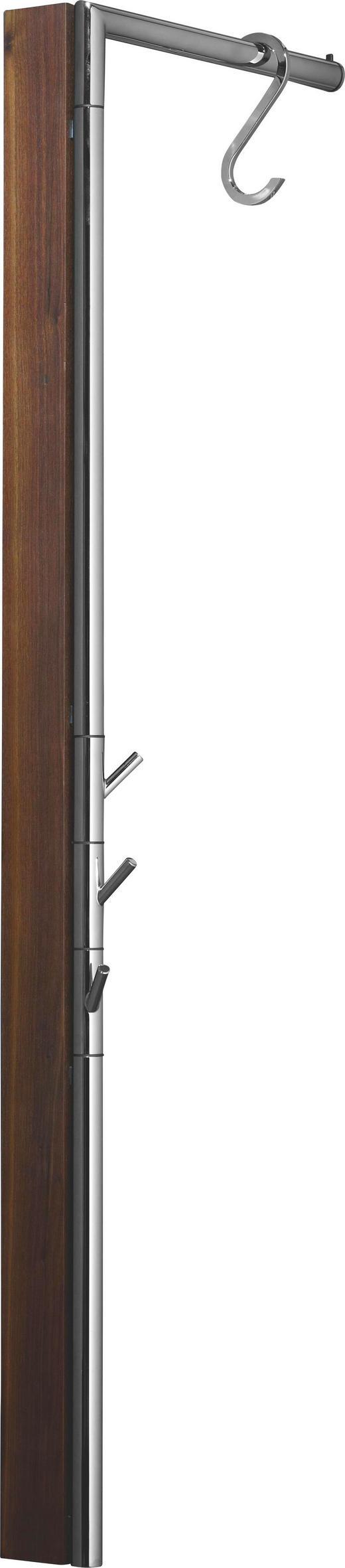 WANDGARDEROBE Nussbaum massiv Nussbaumfarben - Nussbaumfarben, Design, Holz/Metall (2,5(35)/120/38,5cm) - Carryhome