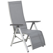 GARTEN-RELAXSESSEL Aluminium - Anthrazit/Silberfarben, Design, Kunststoff/Textil (81/64/116cm) - KETTLER HKS