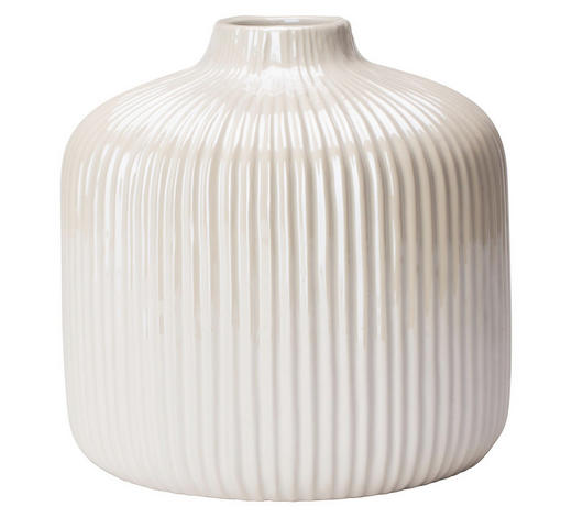 VÁZA, bílá - bílá, Design, keramika (16/16cm) - Ambia Home