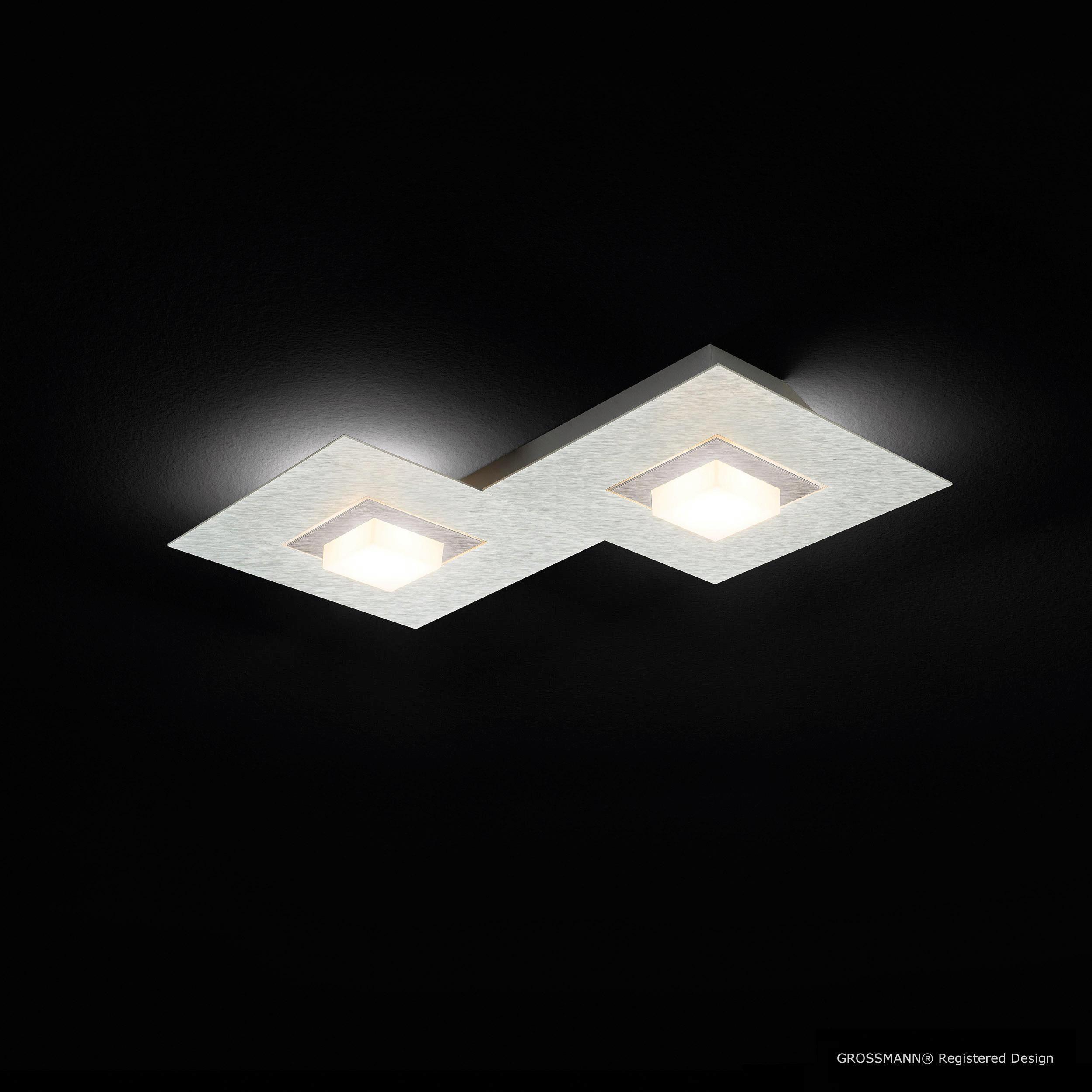 LED-DECKENLEUCHTE - Titanfarben, Design, Metall (40/30/5cm) - GROßMANN