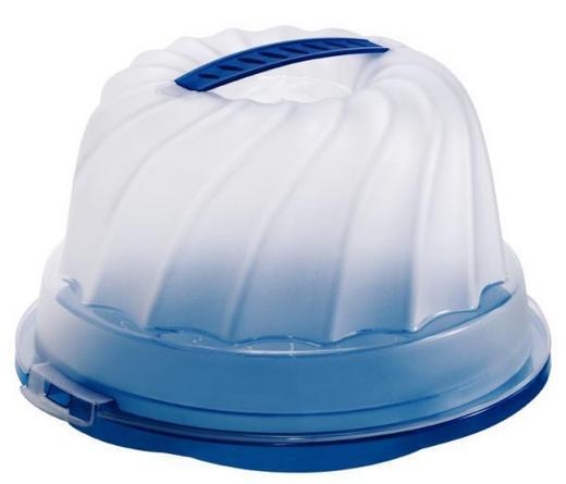 GUGELHUPFBEHÄLTER - Blau/Naturfarben, Basics, Kunststoff (30,5/28,5/17,5cm)