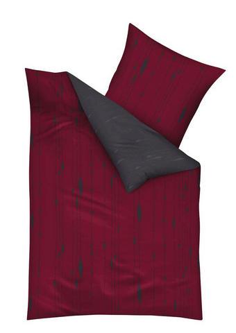 POSTELJNINA COCOON - rdeča/siva, Konvencionalno, tekstil (200cm) - Kaeppel