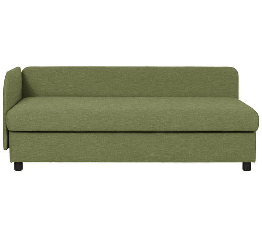 LIEGE in Textil Grün  - Wengefarben/Grün, MODERN, Holz/Textil (206/80/94cm) - Joka