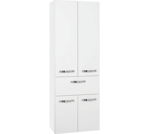 HOCHSCHRANK 60/168/33 cm  - Chromfarben/Weiß, Design, Glas/Holzwerkstoff (60/168/33cm) - Sadena
