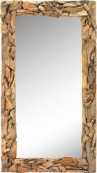 SPIEGEL Braun - Braun/Naturfarben, LIFESTYLE, Glas/Holz (100/180/6cm) - LANDSCAPE