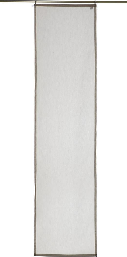 FLÄCHENVORHANG   halbtransparent   60/245 cm - Dunkelbraun, Basics, Textil (60/245cm) - Novel