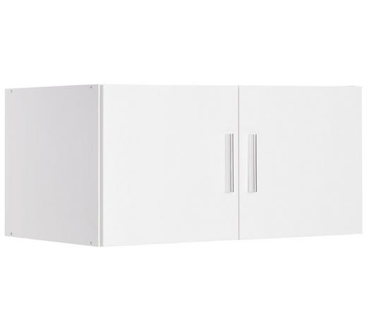 AUFSATZSCHRANK - Chromfarben/Weiß, Design, Holzwerkstoff/Kunststoff (80/40/40cm) - Xora