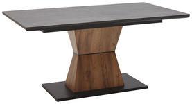 ESSTISCH in Holzwerkstoff 160(200)/90/76 cm   - Eichefarben/Graphitfarben, Design, Holzwerkstoff (160(200)/90/76cm) - Voleo