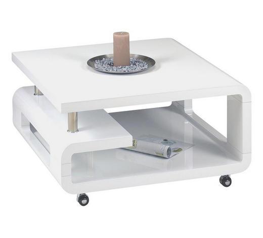 COUCHTISCH quadratisch Weiß  - Weiß, Basics (80/80/42cm)