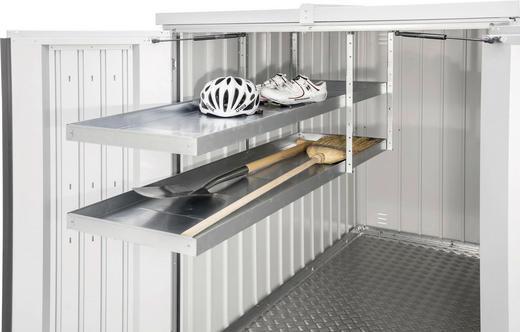 REGALSYSTEM - Silberfarben, Design, Metall (150/5/43cm)