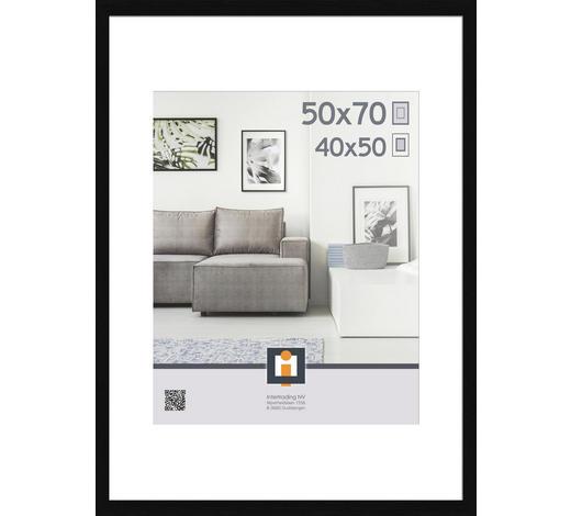 RÁM NA OBRAZY, 73/53/3 cm, černá - černá, Basics, umělá hmota/sklo (73/53/3cm)