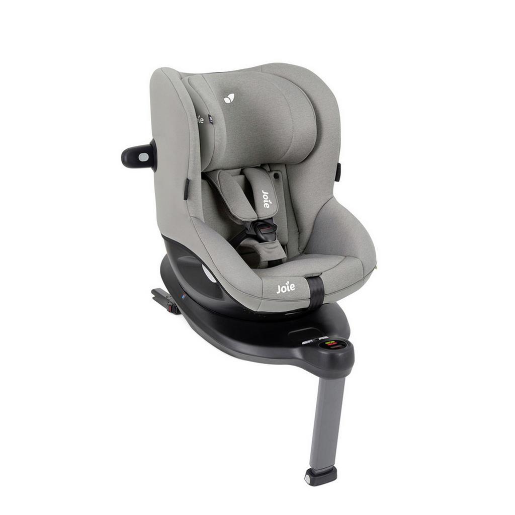 Joie Reboarder-Kindersitz i-Spin 360 E , Grau , Textil , 65x58x62 cm , I-Size , 5-Punkt-Gurtsystem, abnehmbarer und waschbarer Bezug, Gurtlängenverstellung, höhenverstellbare Kopfstütze, integriertes Gurtsystem, optimaler Aufprallschutz, schnell leicht im Auto montierbar, Seitenaufprallschutz, verstellbare Sitz- Schlafpositionen, Isofix-Befestigung, Reboardsystem , Kindersitze, Reboarder