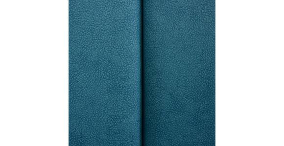 SCHWINGSTUHL in Metall, Textil Edelstahlfarben, Türkis - Türkis/Edelstahlfarben, Design, Textil/Metall (43,5/95/62cm) - Xora