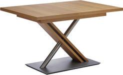 ESSTISCH in Holz, Metall, Holzwerkstoff 130(178)/90/75 cm   - Eichefarben, KONVENTIONELL, Holz/Holzwerkstoff (130(178)/90/75cm) - Moderano