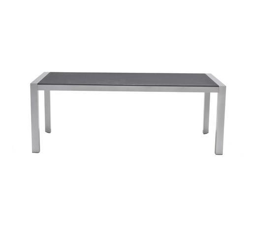 GARTENTISCH 202,3/100,3/74,3 cm   - Anthrazit/Silberfarben, Design, Keramik/Holzwerkstoff (202,3/100,3/74,3cm)