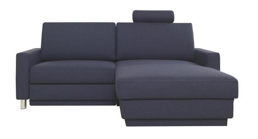 WOHNLANDSCHAFT Webstoff - Chromfarben/Dunkelblau, Design, Textil/Metall (207/158cm) - Venda