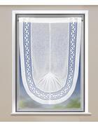 FERTIGVORHANG  halbtransparent  60/100 cm - Weiß, Textil (60/100cm)