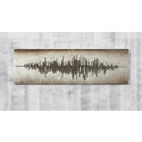 Abstraktes HOLZBILD - Platinfarben/Silberfarben, Design, Holz (180/60/7,5cm) - Monee