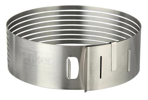 TORTENTEILER - Silberfarben, Basics, Metall (24-26/8cm) - Zenker