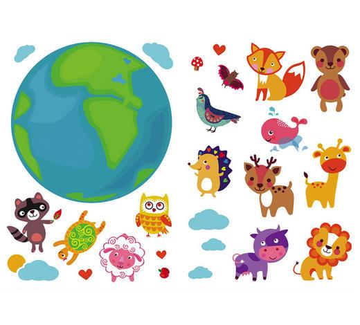 Kinder WANDTATTOO  - Multicolor, Trend, Kunststoff (50/70/0,10cm)