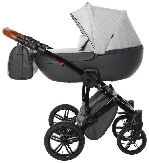 Ladena  Knorr-Baby Kinderwagenset  Graphitfarben, Grau - Graphitfarben/Schwarz, Basics, Textil/Metall (64/99/108cm)