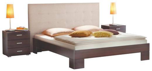 BETT 180/220 cm - Sandfarben/Wengefarben, Design, Holzwerkstoff/Textil (180/220cm) - Hasena