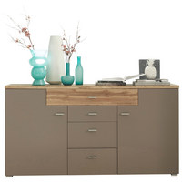KOMODA SIDEBOARD - šedá/barvy stříbra, Design, kov/dřevěný materiál (168/87/42cm) - Xora