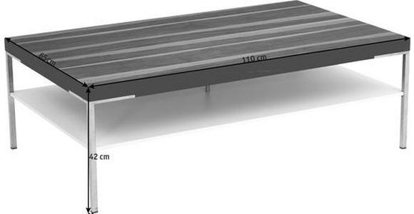COUCHTISCH in Holz, Holzwerkstoff 110/65/42 cm  - Eichefarben/Silberfarben, KONVENTIONELL, Holz/Holzwerkstoff (110/65/42cm) - Moderano