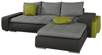 SJEDEĆA GARNITURA - svijetlo zelena/siva, Moderno, tekstil/plastika (283/194cm)