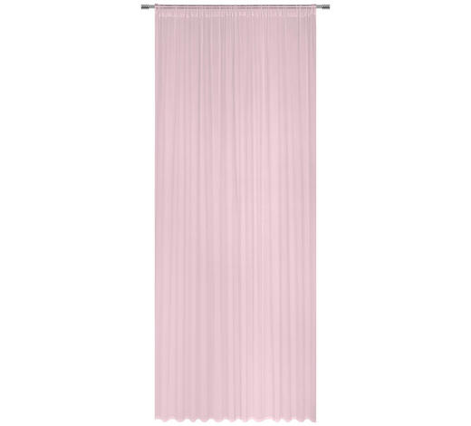 FERTIGVORHANG halbtransparent  - Rosa, Basics, Textil (200/245cm) - Boxxx