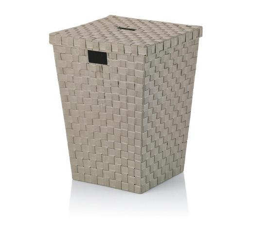 KOŠ ZA PERILO ALVARO - sivo rjava, Konvencionalno, umetna masa (40/40/52cm) - Kela