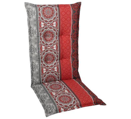 SESSELAUFLAGE orientalisch - Rot/Grau, Basics, Textil (50/110/8cm)