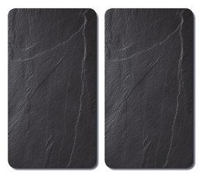 Täckskiva för spishäll - skifferfärgad, Basics, glas (52/30/0,8cm)