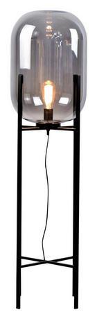 STEHLEUCHTE - Schwarz, Design, Glas/Metall (110cm) - DIETER KNOLL