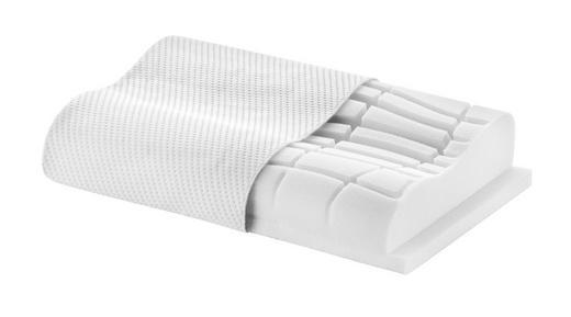 NACKENKISSEN Doppeltuch, Klimahohlfaser, Mikrofaser Schaumstoff - Weiß, Basics, Textil (62/32/8 (6,2)cm) - NOVEL