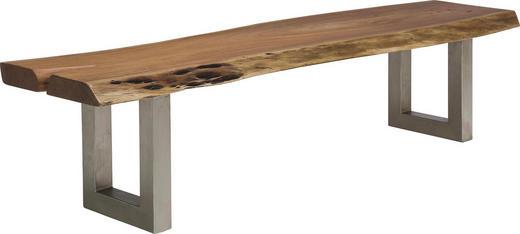 SITZBANK Akazie massiv Akaziefarben - Akaziefarben, LIFESTYLE, Holz/Metall (180/45/45cm) - KARE-Design
