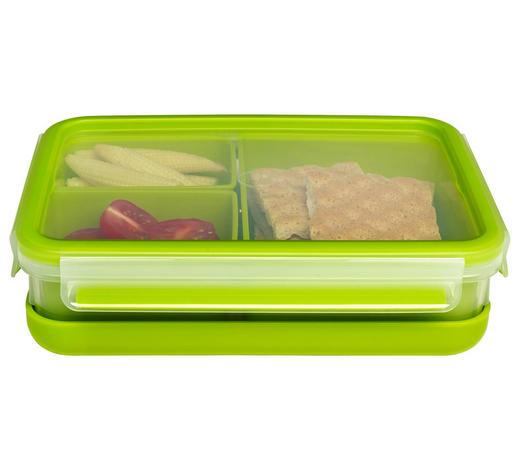 BROTZEITBOX  1,2 L - Transparent/Grün, KONVENTIONELL, Kunststoff (1,2l) - Emsa