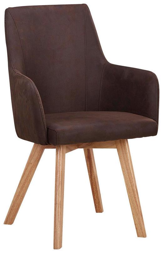STUHL in Holz, Textil Braun, Naturfarben - Braun/Naturfarben, Design, Holz/Textil (56/92/56cm) - Carryhome