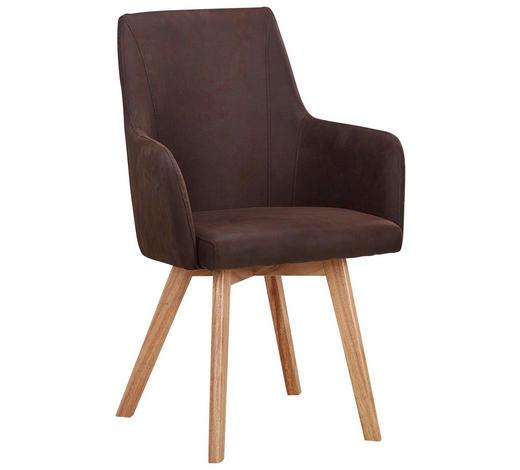 Stuhl In Holz Textil Braun Naturfarben Online Kaufen Xxxlutz