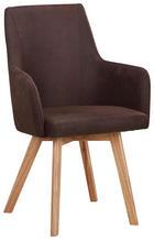 ŽIDLE, dřevo, textil, hnědá, přírodní barvy, - přírodní barvy/hnědá, Design, dřevo/textil (56/92/56cm) - Carryhome