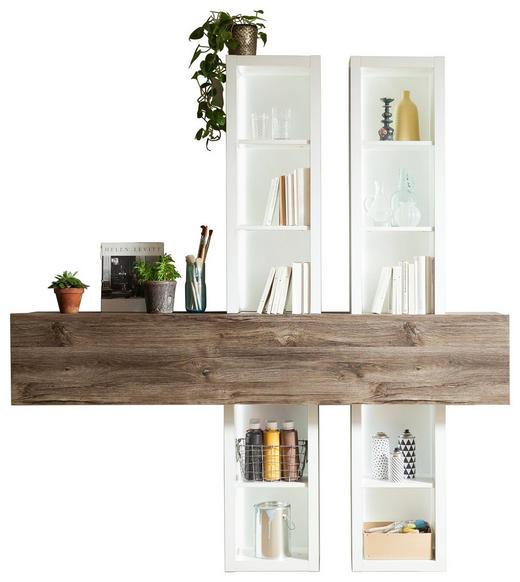 HÄNGEELEMENT Braun, Weiß - Braun/Weiß, Design, Holzwerkstoff (180/192/37cm) - SetOne by Musterring