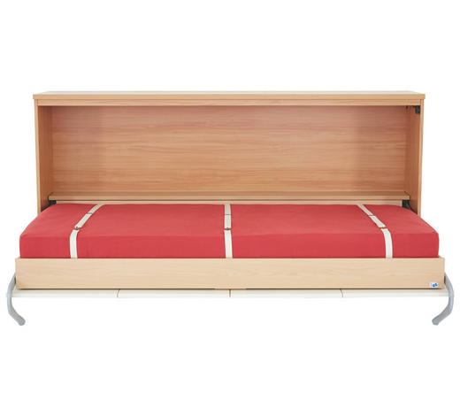 KLAPPBETT in Holzwerkstoff Creme, Nussbaumfarben  - Nussbaumfarben/Creme, Design, Holzwerkstoff (90/200cm)