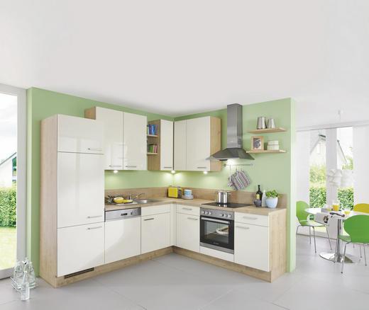 ECKKÜCHE - Eichefarben/Magnolie, Design, Holzwerkstoff (245/225cm) - Celina