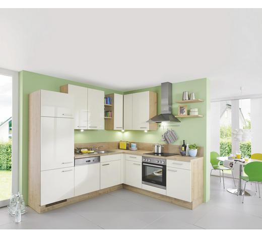 ROHOVÁ KUCHYŇ - barvy dubu/magnolie, Design, kompozitní dřevo (245/225cm) - Celina