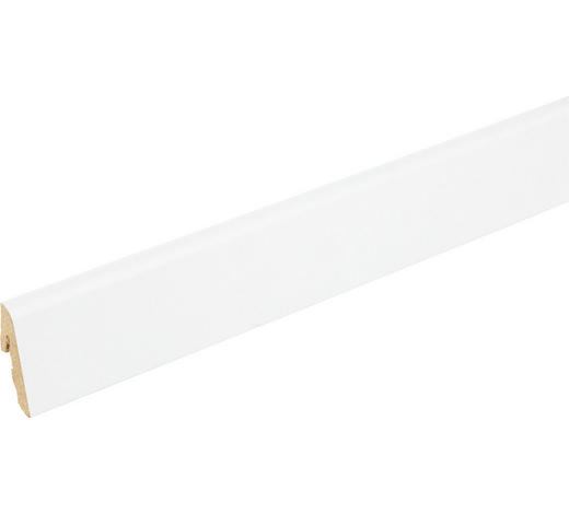 SOCKELLEISTE Weiß - Weiß, Basics, Holz (240/1,85/3,85cm) - Homeware